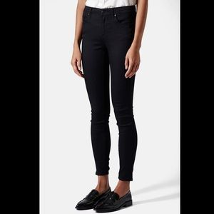 Moto 'Leigh' Mid Rise Skinny Jeans Black